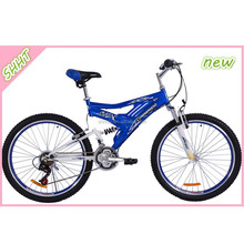 "26"" blue suspension mountain bike cheap price"