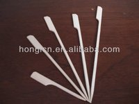 disposable flat bamboo skewer with PE or CPP bags