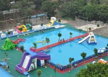 Durable Inflatable Aqua Park / Water Park Projects For inflatable Games