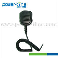Voice coil security guard/police speaker microphone handheld/shoulder clip type for GP328/300/360 fm radio (PTE-1306)