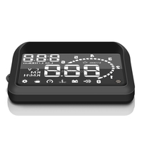 High Quality Universal Car HUD Head UP 3.2 LCD Display OBD ii Car Styling Car Kit fuel Overspeed KM/H W02 pro for Ford Toyota