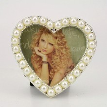 heart crystal photo frame/ photo frame backboard/ metal photo frame mounting/ HQ070022-2525