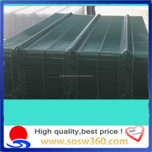 High security pvc coated metal fence manufacturer curved metal