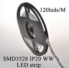 DC12V IP20 warm white 3528 smd led strip 2004/108/EC 2900-3200K