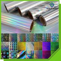 Sample offered BOPP holographic film, Transparent hologram film, Metallic laser film for paper lamination