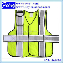 EN471 supplier promotion hi vis reflective vest motorcycle