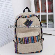 Vintage Canvas Backpack for Teenage Girls