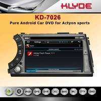 High quality new designing PLC car dvd player for actyon sports with universal remote control