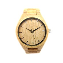 2015 Nature Wooden Men Watch Eco-friendly Maple Sandalwood Wooden Wristwatch Gift Wood Watch