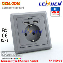 new arrival eu electrical wall socket usb outlet
