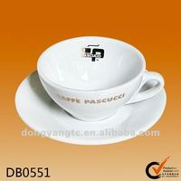 Custom ceramic plates and cups,cup saucer with handle,cup saucer