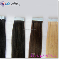 Trade Assurance No Shedding Cheap Double Drawn Remy New Clear Band Tape Hair Extensions