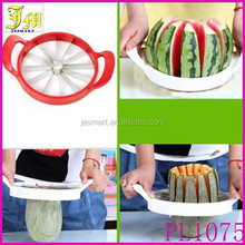 New Muti-function Fruit Melon Watermelon Cantaloupe Stainless Steel Cutter Slicer with Handles Largest Size Kitchen Tool