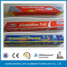 Custom Made Disposable Packed In Color Box Aluminum Foil Roll