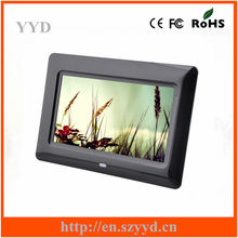 Full function 7inch battery operated digital photo frame for gifts