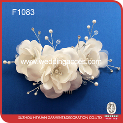 Combination of flowers have beautiful beads and diamond hair decoration