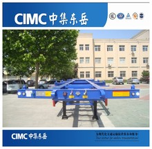 CIMC High Quality 40ft Skeleton Trailer/2 X 20ft Container Trailer Chasis for Sale