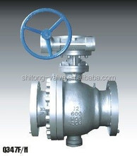Standard API/JIS/DIN/GOST Casting Steel Stainless Steel Gear Operated Ball Valve