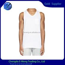 Plain White Custom High Quality Cotton Mens Vest Wholesale 2015