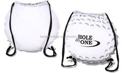Cute golf ball color block polyester cinch pack BDS05