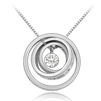 Free Shipping Trending Hot Products Lucky Circle Necklace