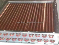 single copper finned tube air heating heat exchanger