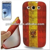 Retro National Flag TPU Case for Samsung Galaxy S3 S III i9300