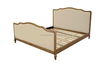 USA style wood carved wood slat bed base elegant carved wood beds