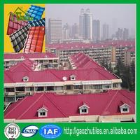 fast installation red bayer makrolon asa resin tile made in China