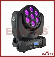 pro beam led moving head light, 7pcs led stage rotation, head moving
