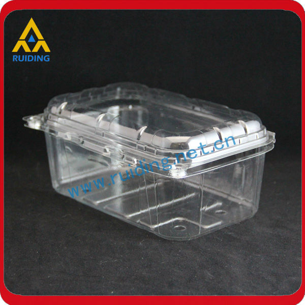 Caja de embalaje de pl stico transparente para frutas for Cajas de plastico transparente