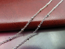 5m 2mm White K color Brass One Bead Link Chain E1035 charm