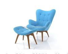 Solid Wood Sofa, Chaise Lounge Chair living room sofa single wood