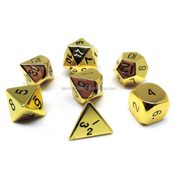 Top Quality Polyhedral Dice New Custom Gold Metal Dice For Game Set