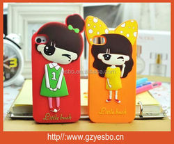 Hot selling fashion silicone cute little bush case for iphone 4 4G