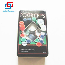 100PCS Texas Hold Em Poker Set Complete in Tin Box
