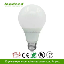 Aluminum pc cover lower cost e27 a60 7w led bulb for home/office/underground/warehouse
