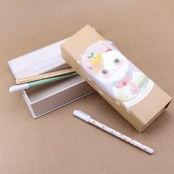 Languo original design paper pencil box with top lid