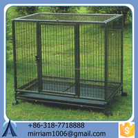 Dogs use Eco-Friendly and Stocked Galvanized material dog kennels cages/black dog kennel /chain link dog cages