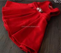 Z52594B sleeveless girl winter dress, little girls winter formal dresses