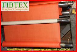 310g/m2,orange PVC Coated Fiberglass Fabric