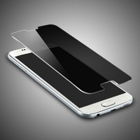 mobile phone accessories privacy 0.33mm black glass screen protector for galaxy S6