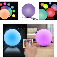 Hot Selling Christmas LED RGB Glass Ball Table Light with batteries operated