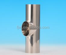 Stainless steel short weld tee DIN standard