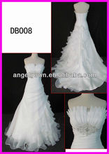 2013 latest wedding gown in hot sell with discount bridal dress