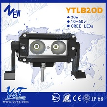 Y&T Made in China factory ATV part 5.5 inch king kong led light bar 20w car led work light bar