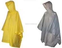 Waterproof Hooded High Quality PVC Rain Poncho