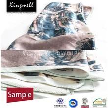 Customizable High Quality Digital Printed mulberry silk velvet fabric