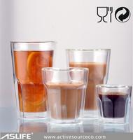 ASD1133_Creative Design! Meeting Room/Office/Home Appliance Borosilicate Double Wall Glass Mug/Double Layer Handmade Glass Cup