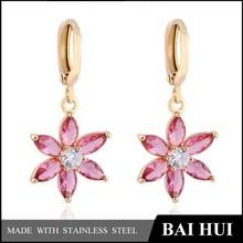 2015 pink crystal earrings, wedding earrings, brass earrings